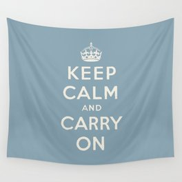 keep calm and carry on Wall Tapestry