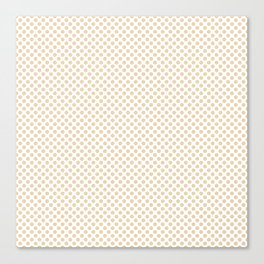 Summer Melon Polka Dots Canvas Print