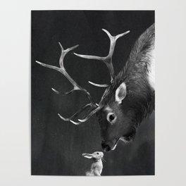 Elk and Rabbit Poster