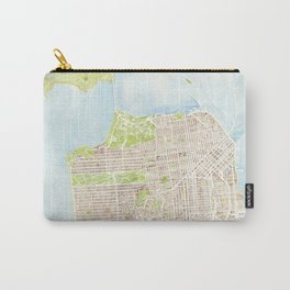 San Francisco CA City Map  Carry-All Pouch