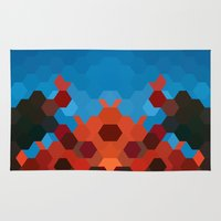 crab Area & Throw Rugs featuring CRAB by ED design for fun