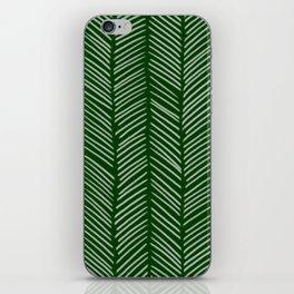 Forest Green Herringbone iPhone Skin