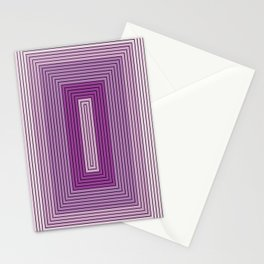 Rectangles shades of purple Stationery Cards