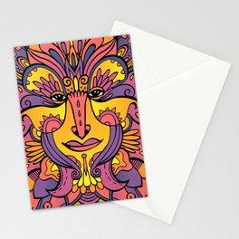 Flower spirit / Purple, orange, yellow pallete Stationery Cards