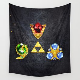 The Timeless Legend of Zelda Inspired Spiritual Stones Wall Tapestry