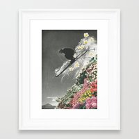 skiing Framed Art Prints featuring Spring Skiing by Sarah Eisenlohr