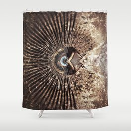 Geometric Art - WITHERED Shower Curtain