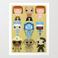 fifth element Art Prints featuring The Fifth Element Customs by SpaceWaffle