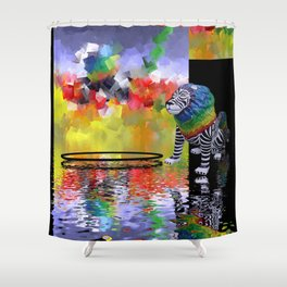 lion's playground Shower Curtain