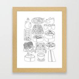 Sunday Dim Sum - Line Art Framed Art Print