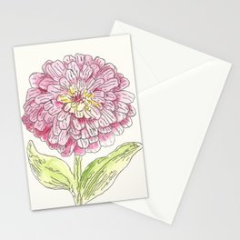 Zinnia Burst Stationery Cards