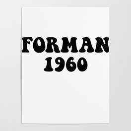 Eric Forman 1960 Poster