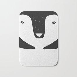 nordic penguin b/n Bath Mat