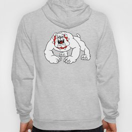 angry bulldog. Hoody