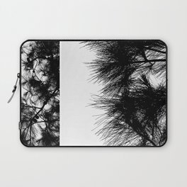 Mediterranean black and white pine tree Laptop Sleeve