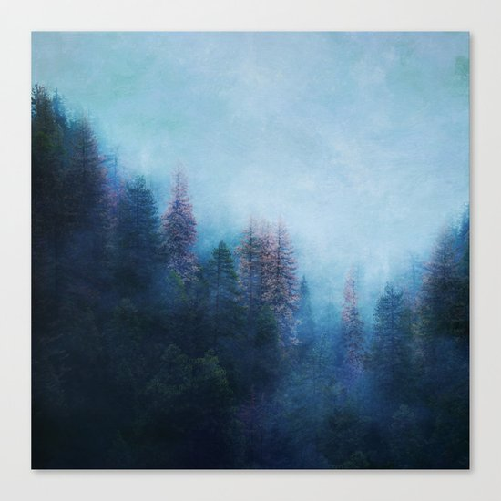 Dreamy Winter Forest Canvas Print