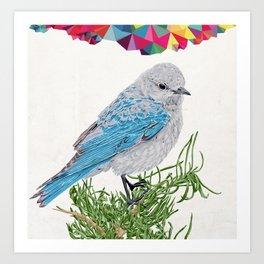 Mt Bluebird Art Print