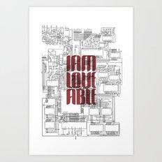 CircuitBoard Love Art Print