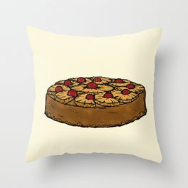 U is for Upside-Down Cake Throw Pillow