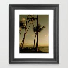 Barcos de Maui Framed Art Print