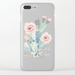 Prettiest Cactus Rose Marble by Nature Magick Clear iPhone Case