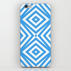 Blue and WHite Diamond Abstract iPhone & iPod Skin