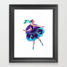 Peacock Tutu Framed Art Print