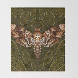 Deaths-Head Moth Throw Blanket