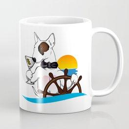 Elegant Bull terrier with helm Coffee Mug