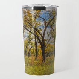 Cottonwoods, Theodore Roosevelt NP, ND 3 Travel Mug