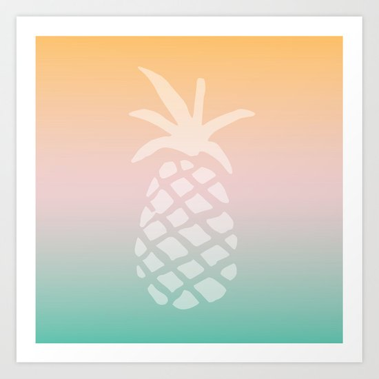 Ombre Pineapple - Tropical Pastel by fancyashelltees