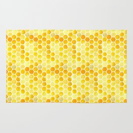 Watercolour Honeycomb Rug