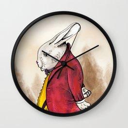 """Rabbiteers """"Professor Lucky"""" Piece 3 Wall Clock"""