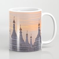 buddhism Mugs featuring Sandamani Pagoda, Mandalay, Myanmar by Maria Heyens