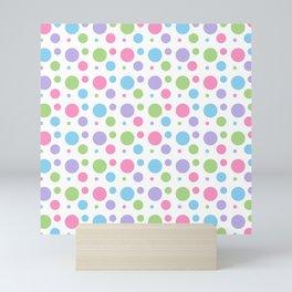 Colorful Pastel Circle Confetti Pattern Mini Art Print