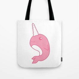 Pink Narwhal T-Shirt Tote Bag