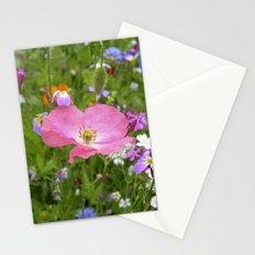 pink poppy IX Stationery Cards