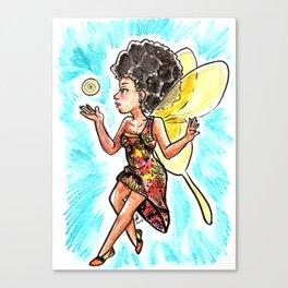 Natural Hair Fairy Canvas Print