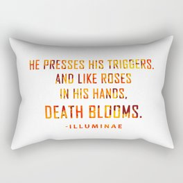 DEATH BLOOMS with blood Rectangular Pillow