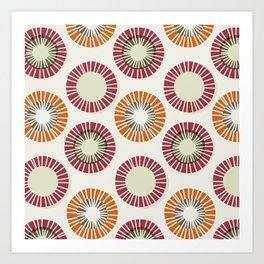 Circles 1 - Red & Orange Art Print