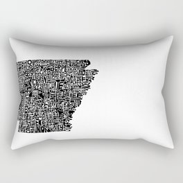 Typographic Arkansas Rectangular Pillow