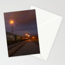 Night train Stationery Cards