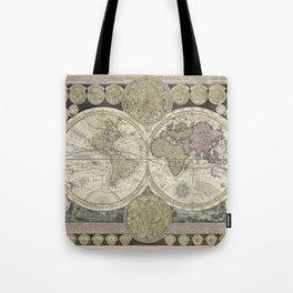 Celestial Map 1710 Tote Bag