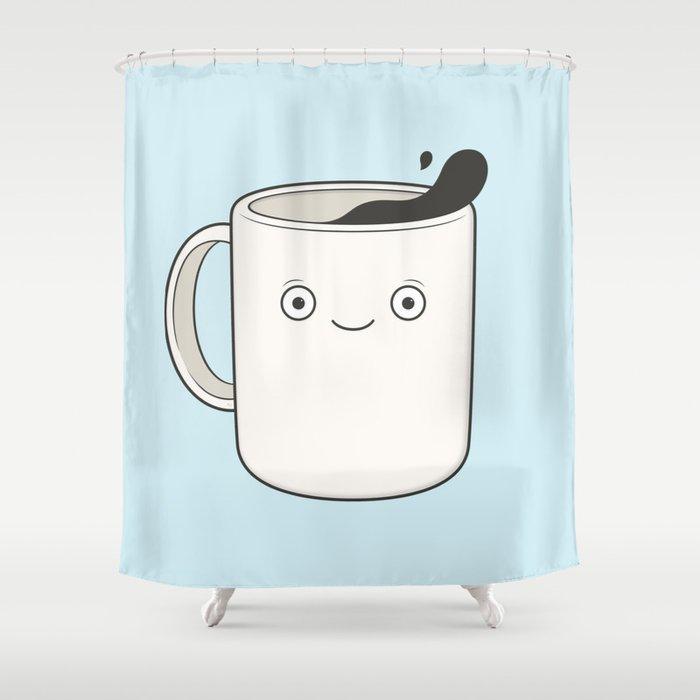 Whoa Coffee Shower Curtain