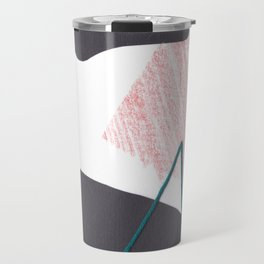 Stitched Abstraction #1 Travel Mug