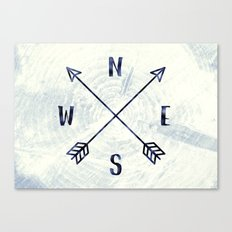 Compass in Navy Blue Canvas Print