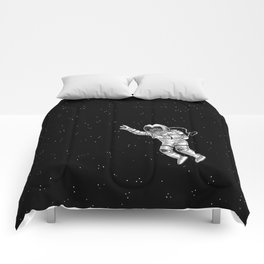 Astronaut in the outer space Comforters
