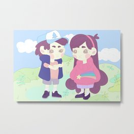 Mabel and Dipper Metal Print