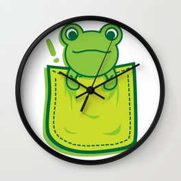 Frog_in_the_Pocket Wall Clock
