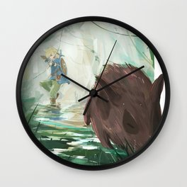 Link and the Pig Hunt Wall Clock
